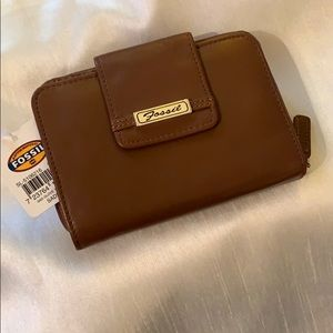 Fossil Multifunction Zip Leather Tab Wallet